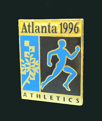 Pictogram with Patchwork leaf motif - Athletics Event - Atlanta Summer Olympics