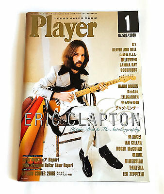 ERIC CLAPTON Player JAPAN MAGAZINE 2008 Heaven And Hell Helloween Led Zeppelin
