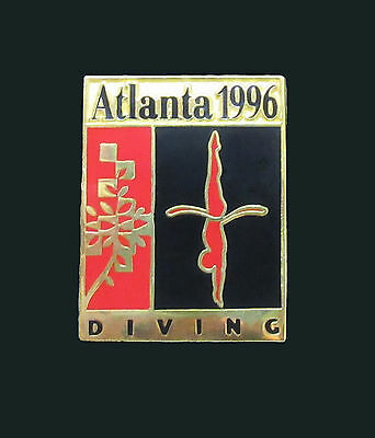 Pictogram with Patchwork leaf motif - Diving Event - Atlanta Summer Olympics