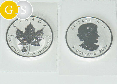 5 Dollar Silber BU 1 Unze Maple Leaf Privy Panda Kanada 2016 Canada in Folie