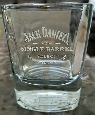 Jack Daniels Single Barrel Select Tennessee Whiskey Glass, Square Base Lowball