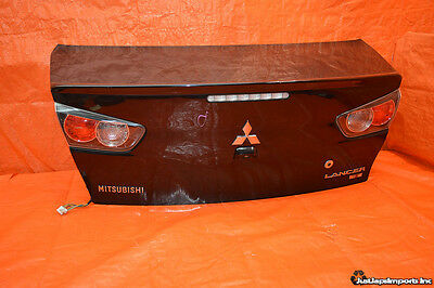 2013 Lancer Ralliart Oem Trunk Lid Deck Assembly Taillights Camera Evox Cy4A