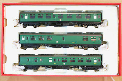 HORNBY RAKE of 3 BR SOUTHERN MK1 COMPOSITE BRAKE BUFFET COACH MINT BOXED nj