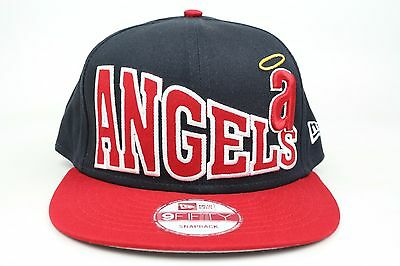 acbaf2d215a11 California Angels Stoked Snap Navy Red White MLB New Era 9Fifty Snapback Hat