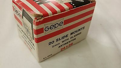 Box of 17 Unused Gepe Slide Mounts 2mm With Glasses 24 X 36