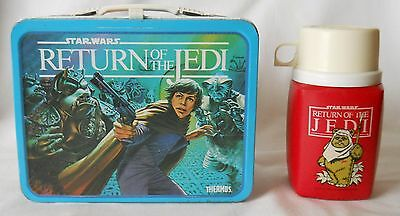 1983 Vintage Star Wars Return Of The Jedi Metal Lunch Box & Thermos No Reserve