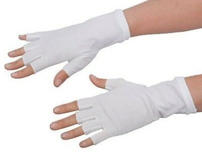 """8"""" Short Fingerless Cotton Stretch Gloves Formal Or Theatrical Costume Accessory"""