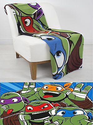 EXTRA LARGE Super Soft Teenage Mutant Ninja Turtles Fleece Blanket Bed Throw
