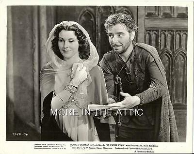 Frances Dee Ronald Colman If I Were King Orig Paramount Pictures Still