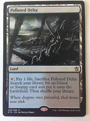 1x MTG - Polluted Delta - Khans Of Tarkir - NM/M