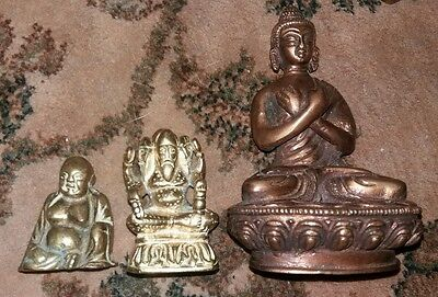 Three Hindu Brass Deities