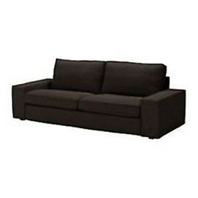 Ikea Kivik 3 three seater sofa REPLACEMENT COVER Only Idemo black NEW 002.439.42