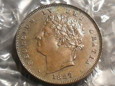 1827 George IV third farthing - Issued for Malta.