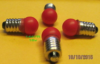 American Flyer Bulb, # 1447R (18v) for Bumpers and Crossing Signals (4)