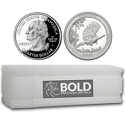 2015-S Silver Proof ATB Quarter Roll (40 Coins) - KISATCHIE