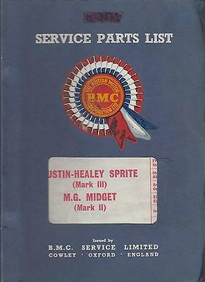 Austin Healey Sprite Mk3 & Mg Midget Mk2 1964-66 Factory Service Parts Catalogue