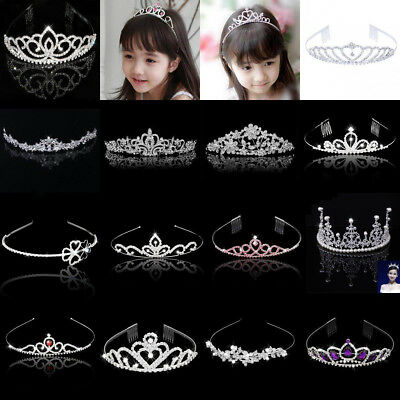 Wedding Bridal Women Crystal Rhinestone Headband Girls Crown Tiara Headpiece