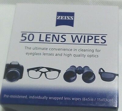 Zeiss Pre Moistened Lens Cleaning Wipes 50 Count