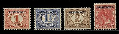 Pays Bas / Netherlands 1913/8 Service / Official (Armenwet) Mi.1, 2, 4 & 7 */(*)