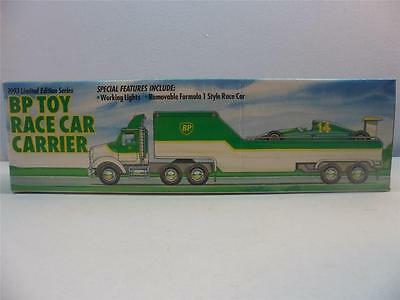 1993 Limited Edition Series BP Toy Race Car Carrier NIB Hess ERTL