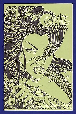 Shi : The Way of the Warrior #2  Ashcan GREEN Variant 1994 Crusade Tucci