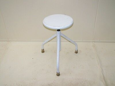 Old Doctor Stool, Designer Hocker Metal Vintage Workshop Stools