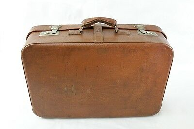 beautiful old suitcase Travel cases DDR brown leather