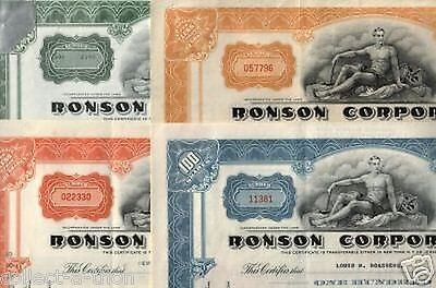LOT of 20 RARE RONSON STOCKS (MIXED COLORS) OUR EXCLUSIVE CV $40 EACH! START 75c