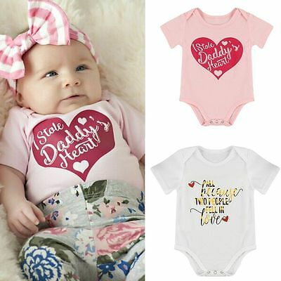 0-24M Newborn Infant Baby Boy Girls Romper Jumpsuit Bodysuit Kids Clothes Outfit