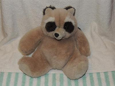 "1985 Gund Vintage Plush Raccoon BANDIT 9"" Tall Stuffed Excellent"