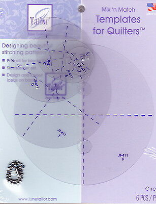 Circles Templates -  plastic templates for circles for applique projects