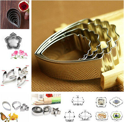 Baking Cookie Cutter Mold Fondant Pastry Biscuit Stainless Steel Mould Set