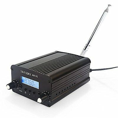 SainSonic AX-7C 7W FM Transmitter Mini Radio Stereo Station PLL LCD with Antenna