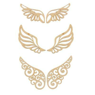 Unfinished Blank Wings Wood Shape Craft Supplies Laser Cut for Arts Decor