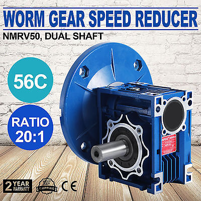NMRV050 20:1 56c Speed Reducer Double Out Shaft Gearbox Pop Valid HIGH GRADE