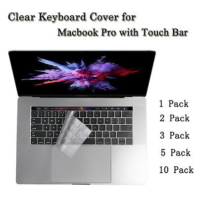 "Clear TPU Keyboard Cover Protector NEW Macbook Pro 13.3 15"" with Touch Bar A1706"