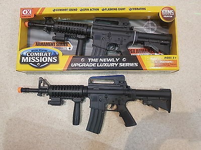 M16 Battery Operated With Sound And Light Toy Military Gun 59cm
