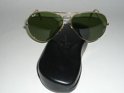 Top Zustand! Vintage Ray Ban USA B&L Aviator 62 14 RB 3 Lenses with RB hard case