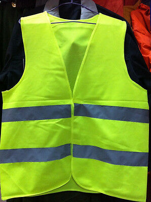 Safety Reflective Vest provides High Visibility day & night Running Working New