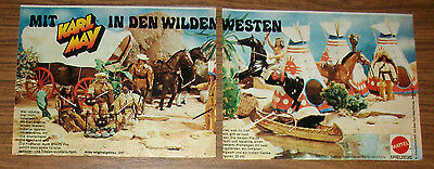 Seltene Werbung BIG JIM Mit Karl May in den Wilden Westen Winnetou #2 1977