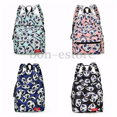 Women Girls Cute Panda Backpack Canvas School Bag Rucksack Satchel Bookbag Purse