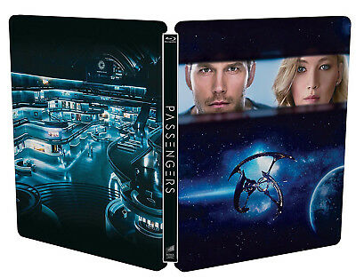 PASSENGERS (BLU-RAY EDIZIONE STEELBOOK) con Jennifer Lawrence, Chris Pratt