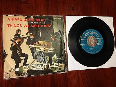 """The Beatles """"A HARD DAY'S NIGHT"""" QMSP 16363 Italy ERROR HARLD 1964 *FIRST PRESS*"""