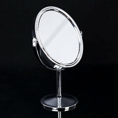 New Beauty Makeup Oval Double-Sided Normal Magnifying Stand Style Mirror