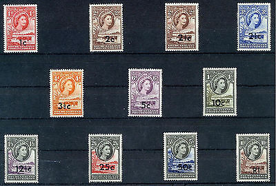 BECHUANALAND 1961 DEFINITIVES SG157/167b MNH