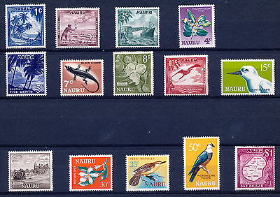 Nauru 1966 Definitives Sg66/79  Mnh