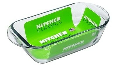 Kitchen Classics Glass 1.5L Loaf Pan with Handles Easy to Carry Long Durability