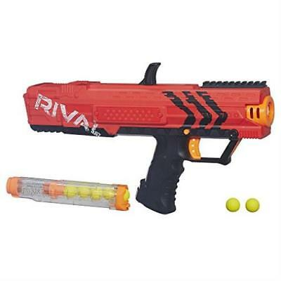 Nerf Rival Apollo Xv-700 Blaster Red Spring Action 7 High Impact Rounds Dart Gun