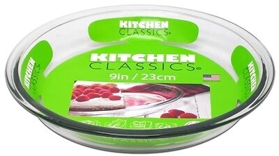 Kitchen Classics Glass 23cm Pie Plate Kitchenware with Long Durability