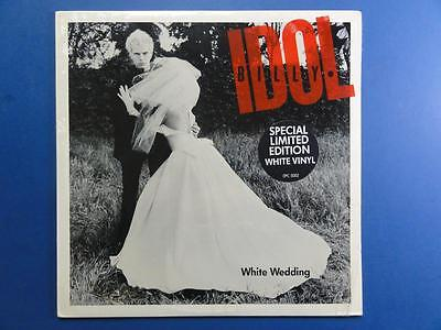 "BILLY IDOL  WHITE WEDDING White Vinyl USA  12"" p/s 45 Still sealed"
